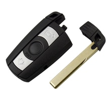OkeyTech für Bmw 1/3/5/6/7 Serie E90 E60 F10 f30 Fernbedienung Schlüssel Abdeckung Fob Fall Halter Blank Ersatz Schlüssel & Batterie blade-Switch