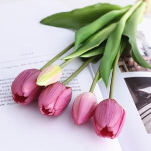Роскошный силиконовый букет тюльпанов на ощупь, Декоративные искусственные цветы, украшение для гостиной, искусственные цветы