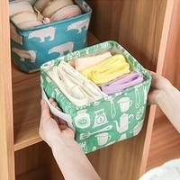 cotton linen desktop storage basket sundries underwear storage basket bags cosmetic organizer scarf socks container bins