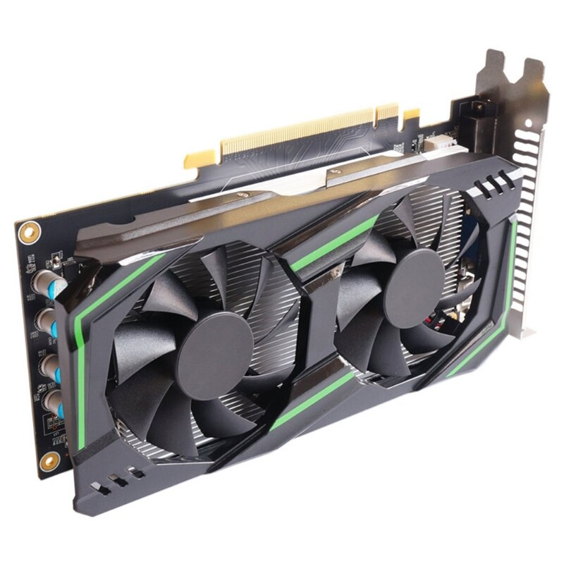 بطاقة بيانية للكمبيوتر NVIDIA GTX 550Ti 6GB GDDR5 192-Bit PCIE 2.0 HDMI-متوافق مع واجهة DVI-D مع مروحة تبريد مزدوجة