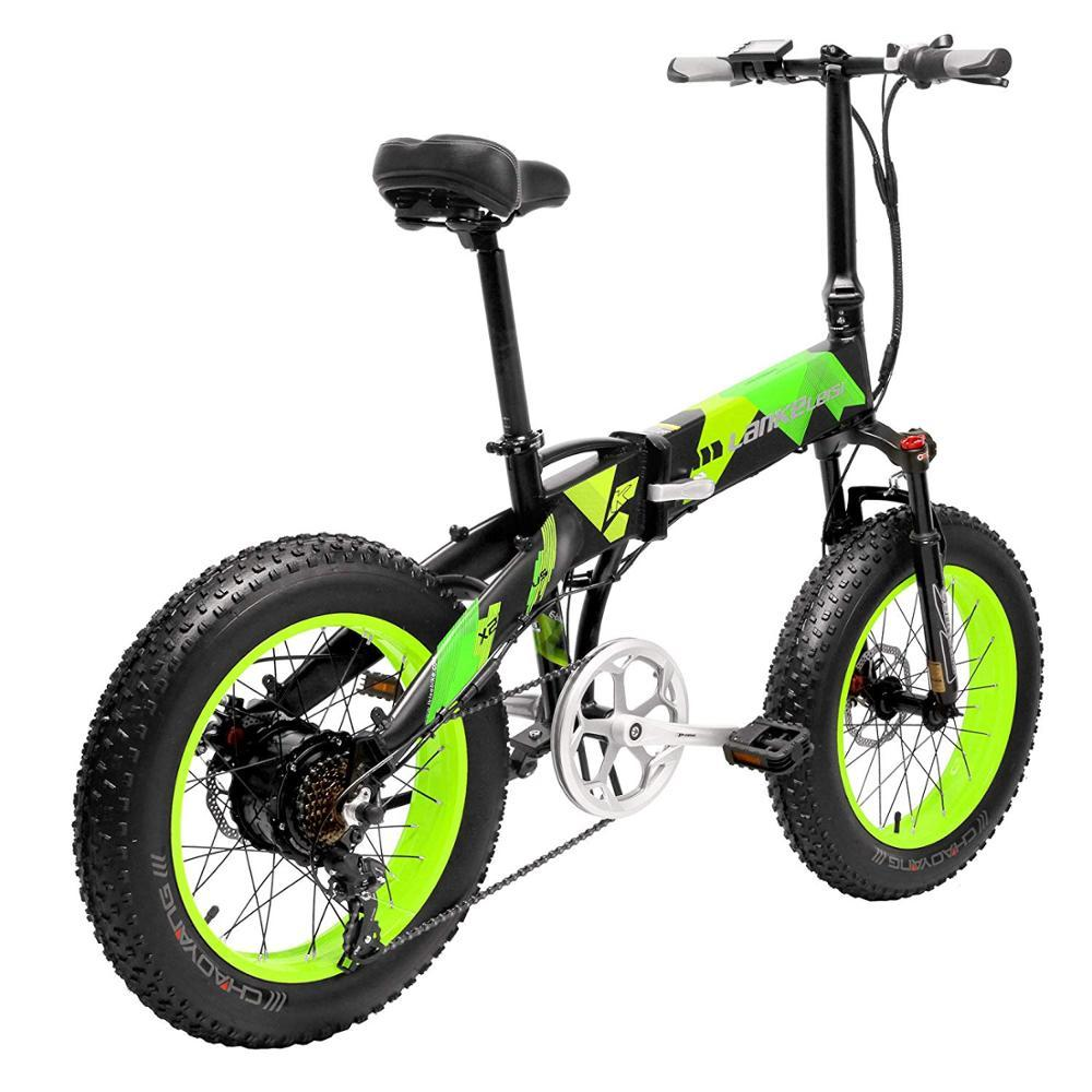 Bicicleta eléctrica plegable de 20 pulgadas con ruedas gruesas, bicicleta eléctrica de 1000W, batería de litio L G 13AH con calidad europea