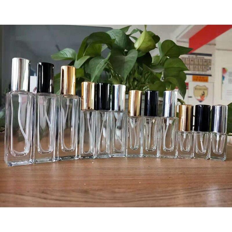 Hohe Qualität 3ml 6ml 10ml 20ml Mini Parfüm Spray Flasche Glas Spray Zerstäuber Reise Kosmetische Container leere Nachfüllbare Flaschen
