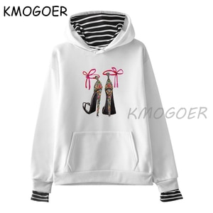 High Heel Shoes Unisex Hoodie Unisex's Winter Long Sleeve Tumblr Fashion Printed Autumn Casual Grunge Pullovers