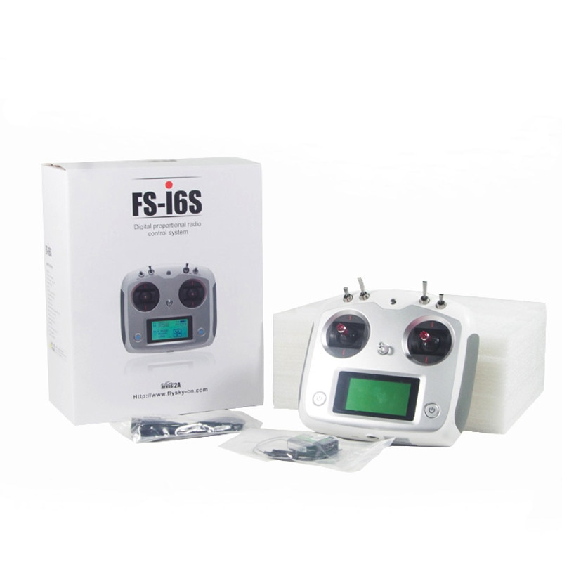 FS-i6S I6S 2.4G 10CH AFHDS 2A Centering Throttle Transmitter IA6B A8S IA10B Receiver for RC Airplane FPV Racing Drones enlarge