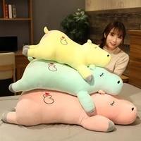 new huggable kawaii hippopotamus plush pillow toys stuffed soft plush sleep pillow sofa home decor birthday gifts for kids girls
