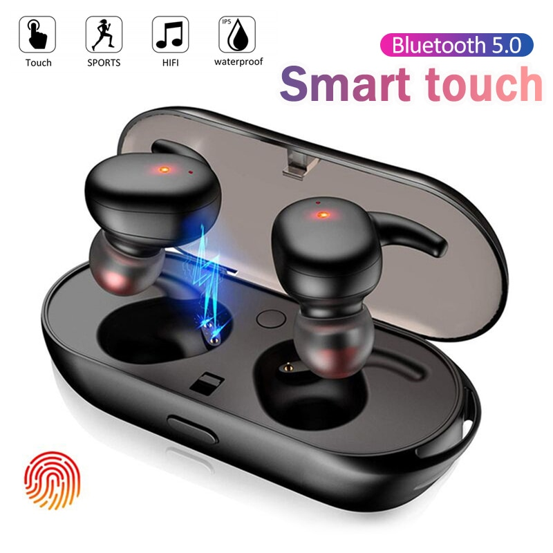 Y30 TWS Wireless headphones 5.0 Earphone Noise Cancelling Headset Stereo Sound Music In-ear Earbuds For Android IOS smart phone