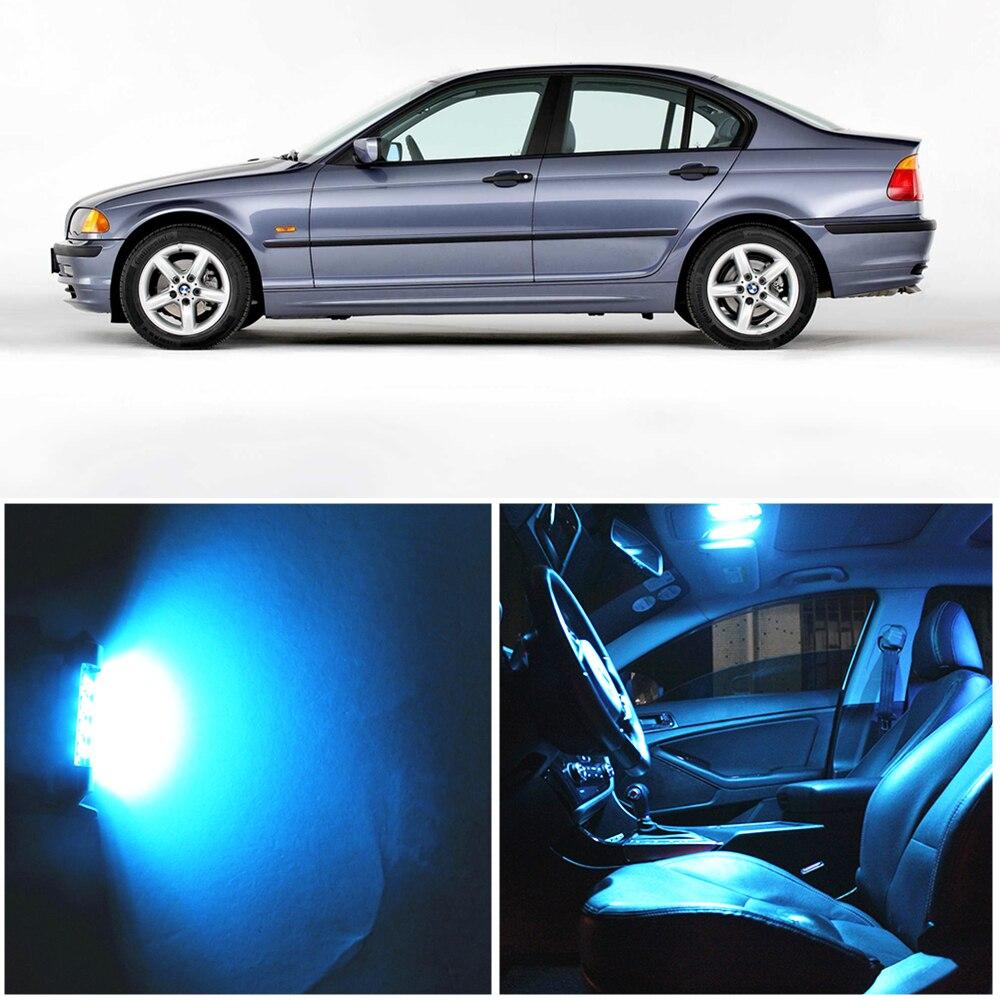 WLJH 17x, Bombilla de espejo de mapa de coche blanca sin Error, paquete de iluminación Interior, Kits Led para BMW E46 1999-2006, sedán Wagon Coupe Canbus