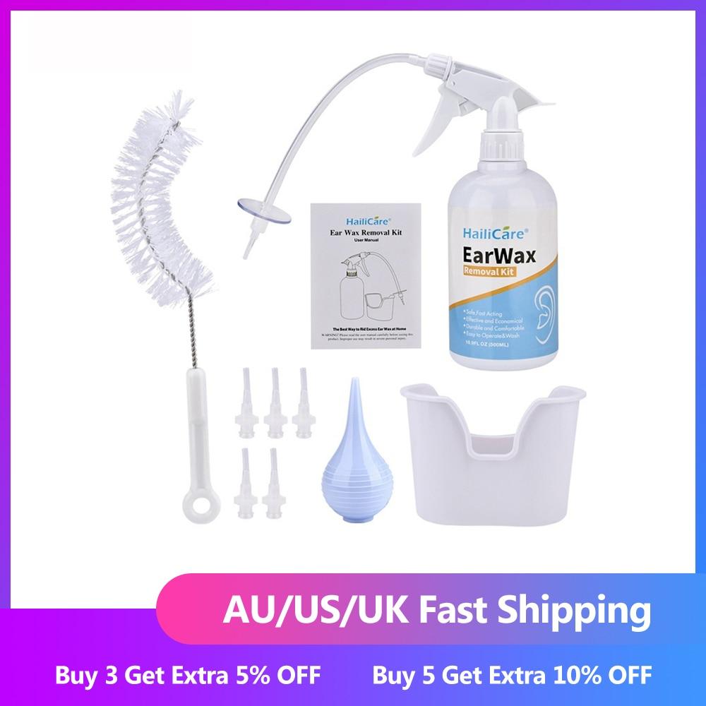 FDA ушной воск инструмент для очистки ушей ирригационный набор для мойки ушного воска набор с выдавливающей лампой/шприц/щетка для взрослых ...