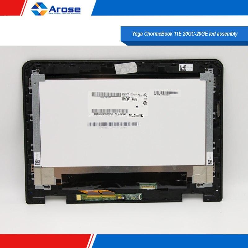 "01AW193 B116XAN 04,0 11.6 ""HD LCD Panel für Lenovo Thinkpad Yoga ChormeBook 11E 20GC-20GE lcd montage"