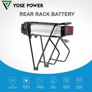 battery pack 48v 18650 battery pack for ebike battery 1500W motor fit 26-28 V-brake of Rear Wheel Rear Rack ebike battery 52V