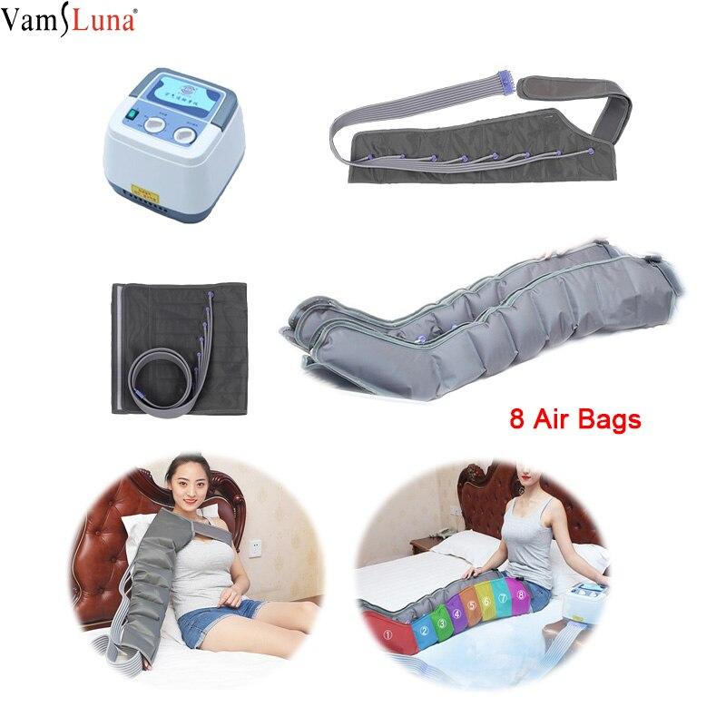 Compresión de aire con 8 cámaras brazo pierna cintura vibración masajeador neumática envolturas masajeador relajación y promoción de la circulación sanguínea