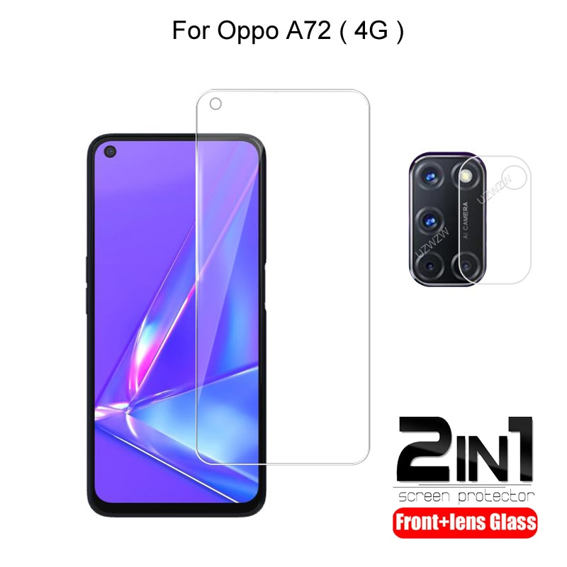 2-in-1-for-oppo-a72-camera-lens-film-screen-protector-guard-protective-hd-tempered-glass-explosion-proof-anti-shock