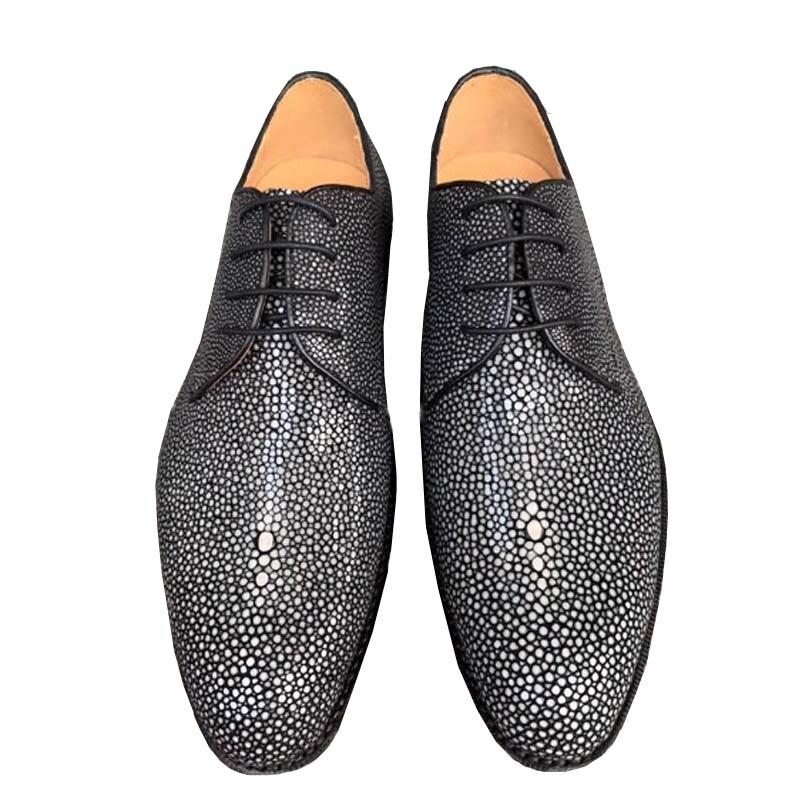 Fanzunxing-أحذية رجالية بريطانية ، أحذية عمل جديدة ، مقاس كبير ، خياطة يدوية ، لؤلؤ