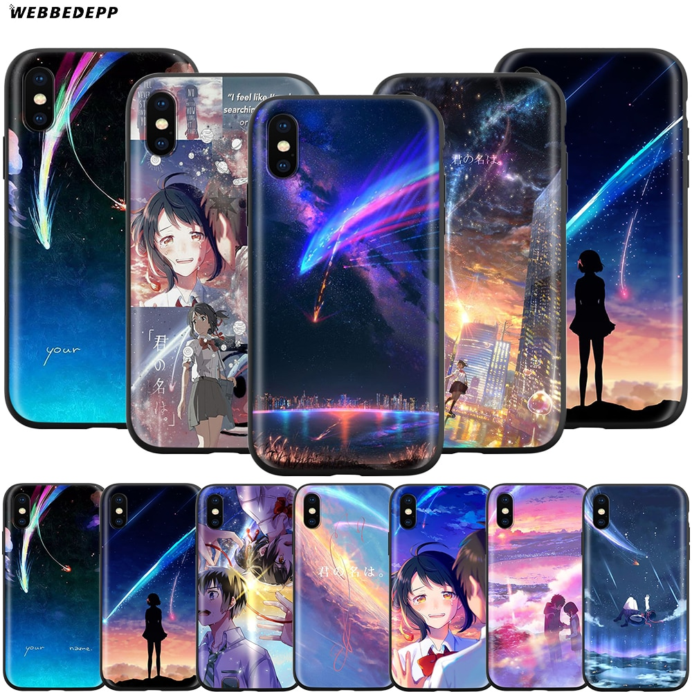 Webbedepp tu nombre Kimi No Na Wa caso para Apple iPhone 11 Pro XS Max XR 8X8 7 6 6S Plus 5 5S SE