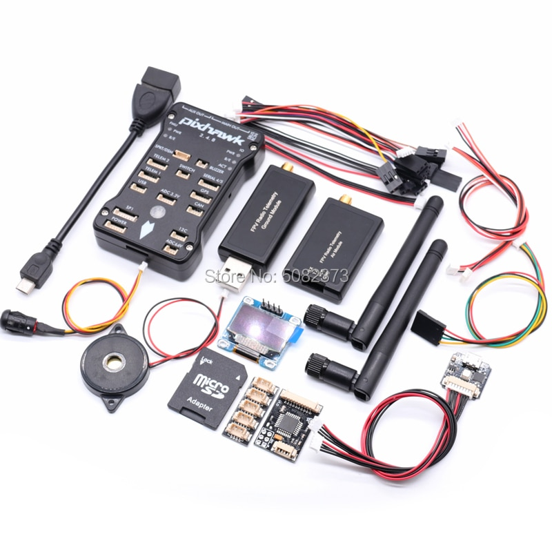 Pixhawk PX4 PIX 2.4.8 32 poco controlador de vuelo w/SD 4G PPM I2C + RGB USB + OSD OLED + 3DR 100/500MW telemetría Radio, 433 Mhz/915 Mhz