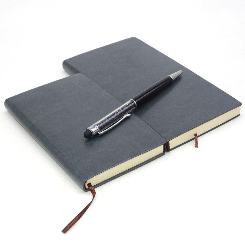 Agenda planificadora de cuero, cuaderno de bolsillo pequeño, Bloc de notas, línea...