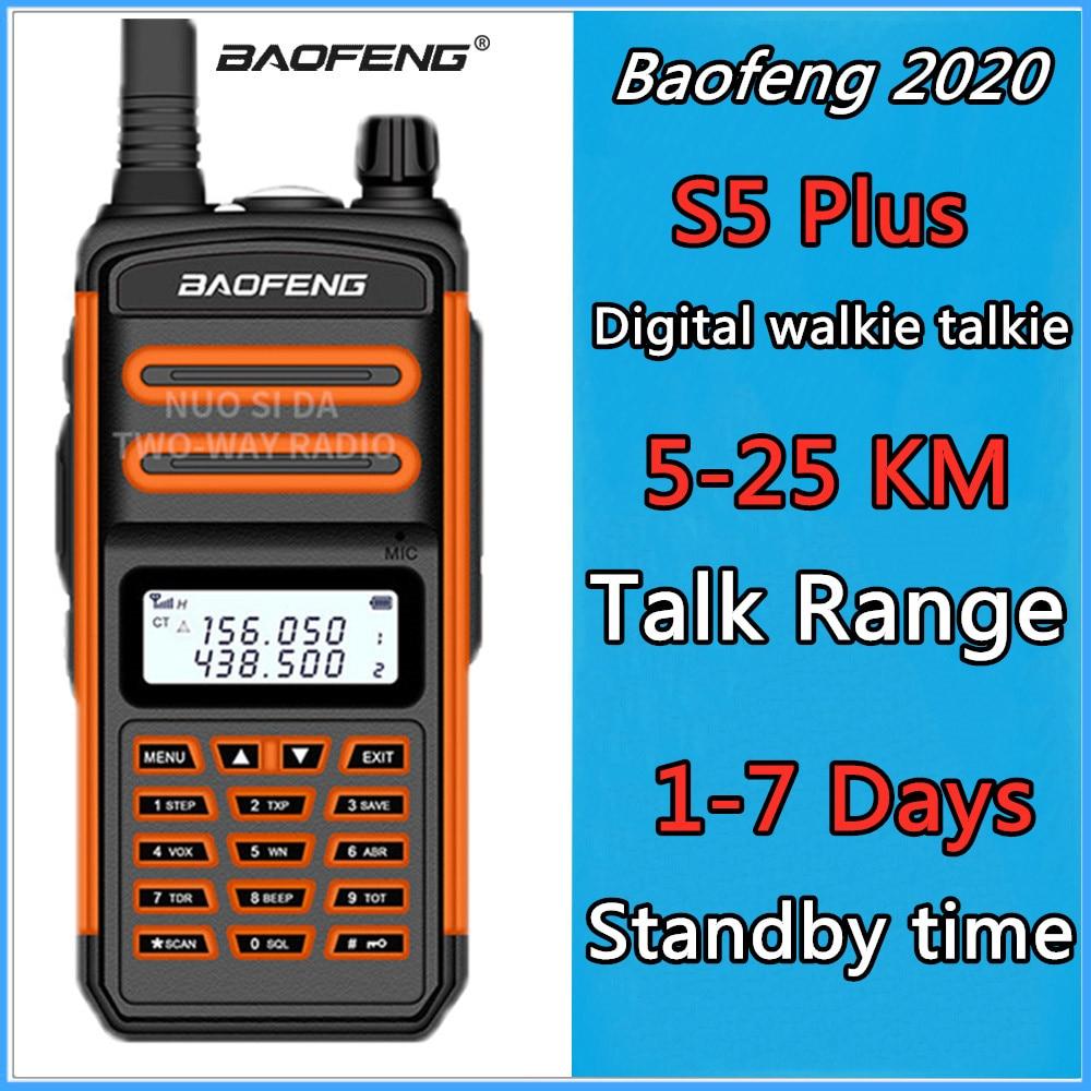 De Baofeng S5 más Walkie Talkie coche Cb Ham Radio Hf transceptor largo alcance 5-20km UHF  400-520 Mhz VHF  136-174 Mhz de IP55