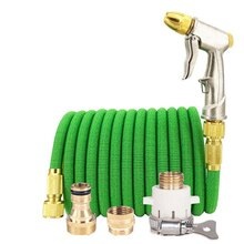Hot Sale Water Gun Hose Retractable Garden Hose Adjustable Nozzle EU High Pressure Power Hose Laundry Garden Watering System