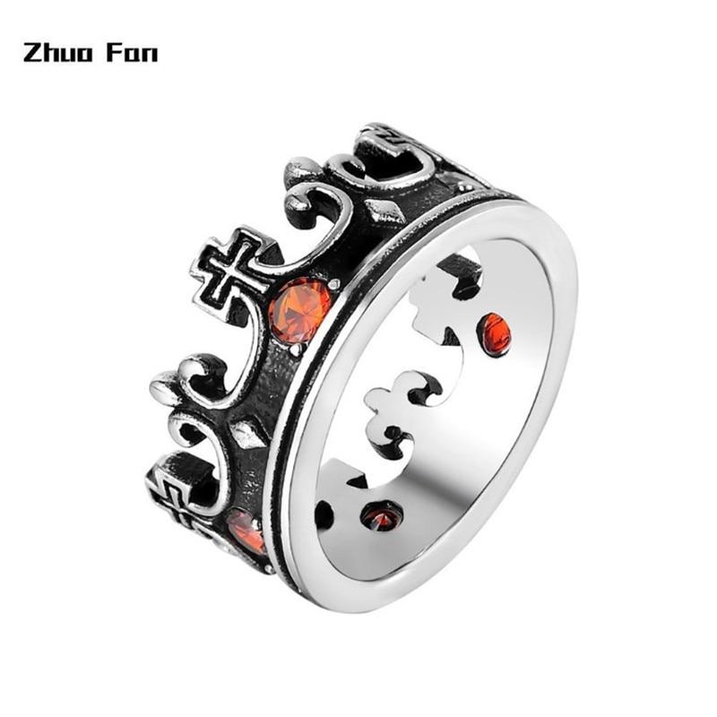 2020 nouvelle mode originale en acier inoxydable Couple anneau couronne Couple en acier inoxydable anneau bijoux anniversaire saint valentin Gif