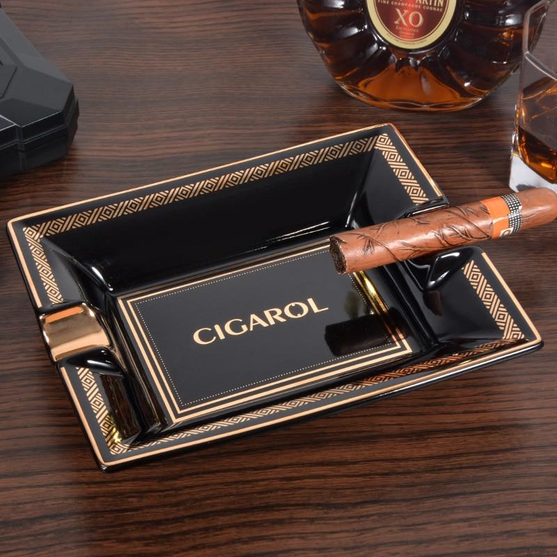 Cigar Ashtray Ceramic High-End Cigar Ashtray Creative Cigarette Holder Ash Tray Roach Clip Smoke Cute