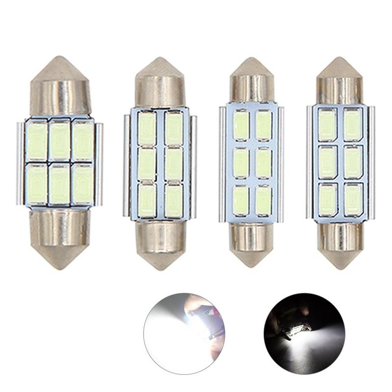 1 Uds guirnalda CANbus 31mm 36mm 39mm 41mm C5W led ERROR libre 5630 5730 6 LED smd interior lectura blanco hielo bombillas azules Domo lámparas