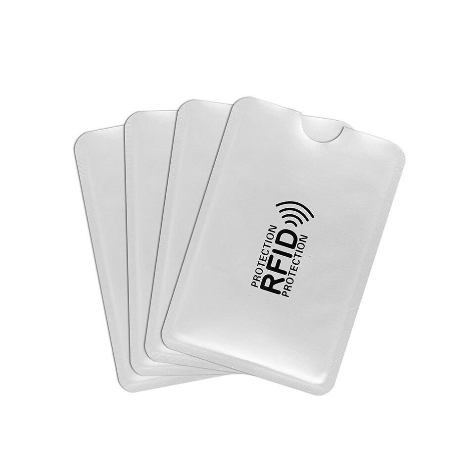 50 pces anti magnético cartão manga desmagnetização titular do cartão de banco nfc anti roubo escova cartão de identificação anti rfid cartão manga