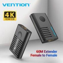 Vention HDMI удлинитель HDMI 2,0 Женский ретранслятор до 10 м 60 м усилитель сигнала активный 4K при 60 Гц HDMI в HDMI разъем