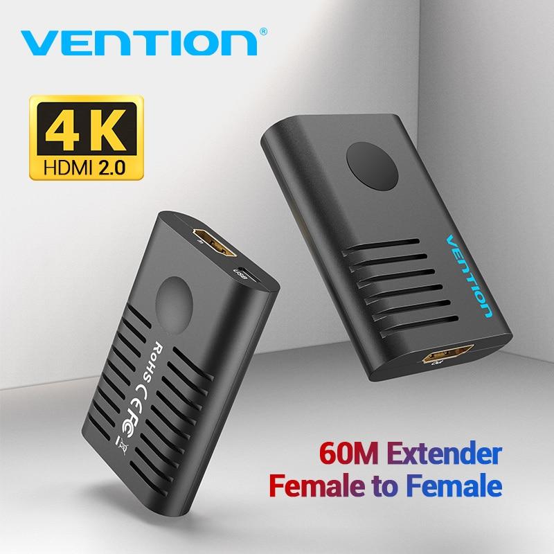 Vention HDMI extensor HDMI 2,0 repetidor hembra a hembra hasta 10m 60m amplificador de señal activo 4K @ 60Hz HDMI a HDMI conector