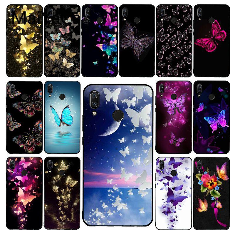 Maiyaca bonita Flor de mariposa funda de teléfono para Xiaomi Redmi4X 6A 9 8T Redmi 5 5Plus Note4 note 5 7 Note6Pro 9 9pro