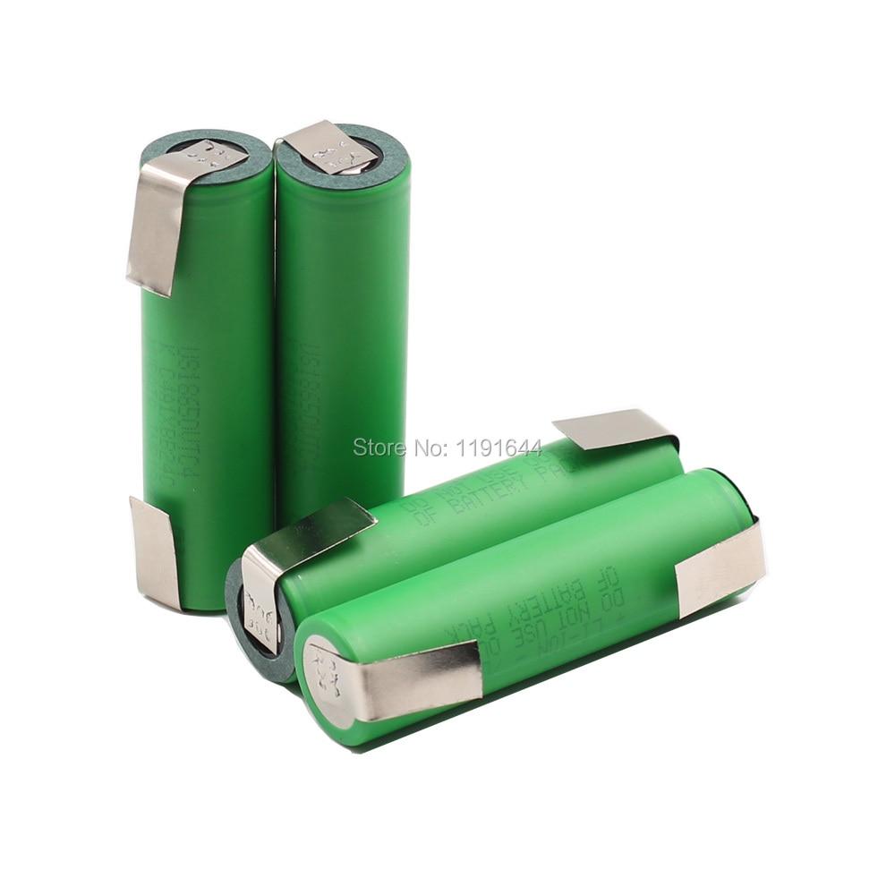 5 unids/lote Original níquel Placa de contacto 3,6 V US18650 VTC4 2100mAh con 30A descarga para destornilladores eléctricos