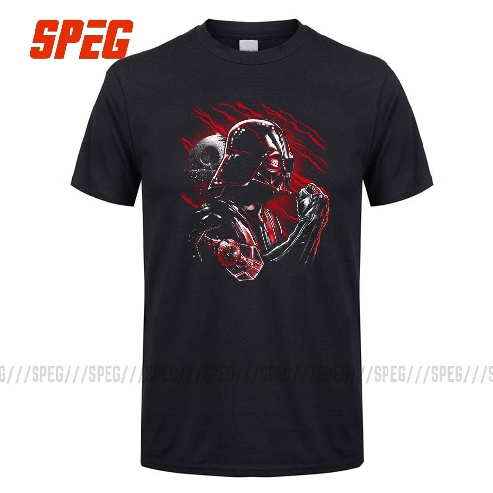 Star Wars Tshirt Wrath Of Darth Vader T-Shirt Men Short Sleeve 100% Cotton Boy Tee Male Big Size Black T Shirt Top Clothes