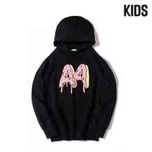 Children's A4 Donuts Hoodie Autumn Winter Family Clothing Thicked Fleece Hooded Sweatshirts Casual P