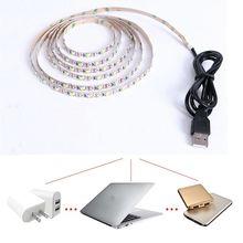 5V USB Câble LED Bande Lumière SMD3528 50CM 1M 2M 3M 4M 5M Noël Flexible Non led Étanche led bande Lumières TV FOND Lumières