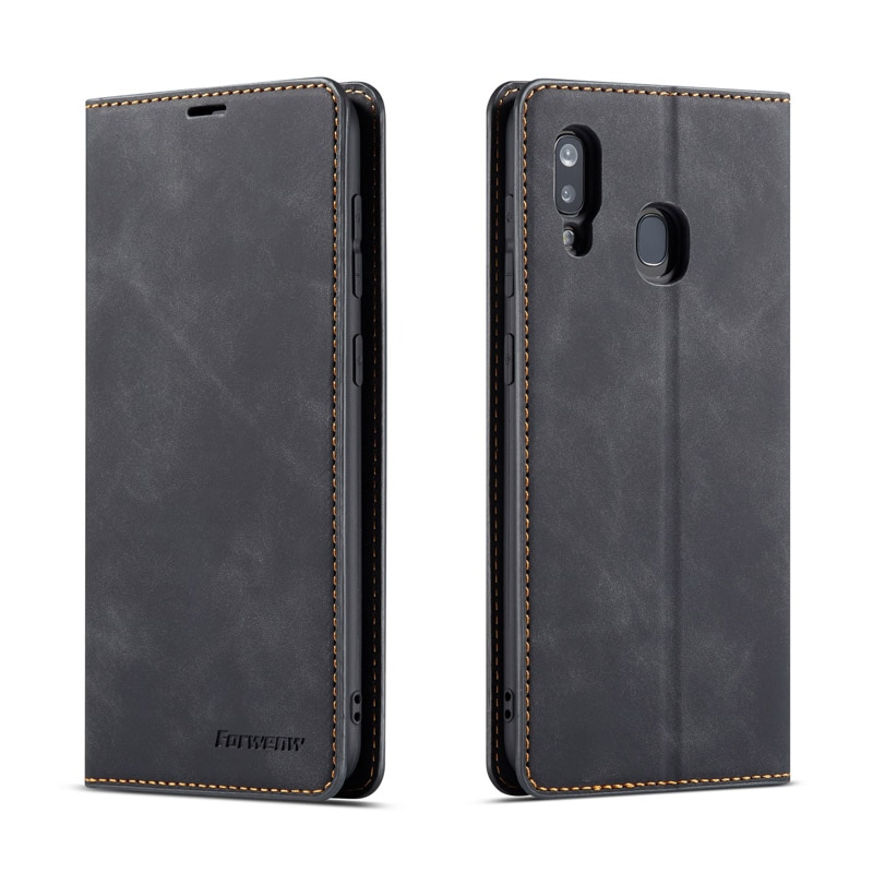 Luxury Wallet Case For Samsung A01 A7 A8 A20 A30 A40 A80 A50 A51 A60 A70 A71 Leather Flip Wallet Mag
