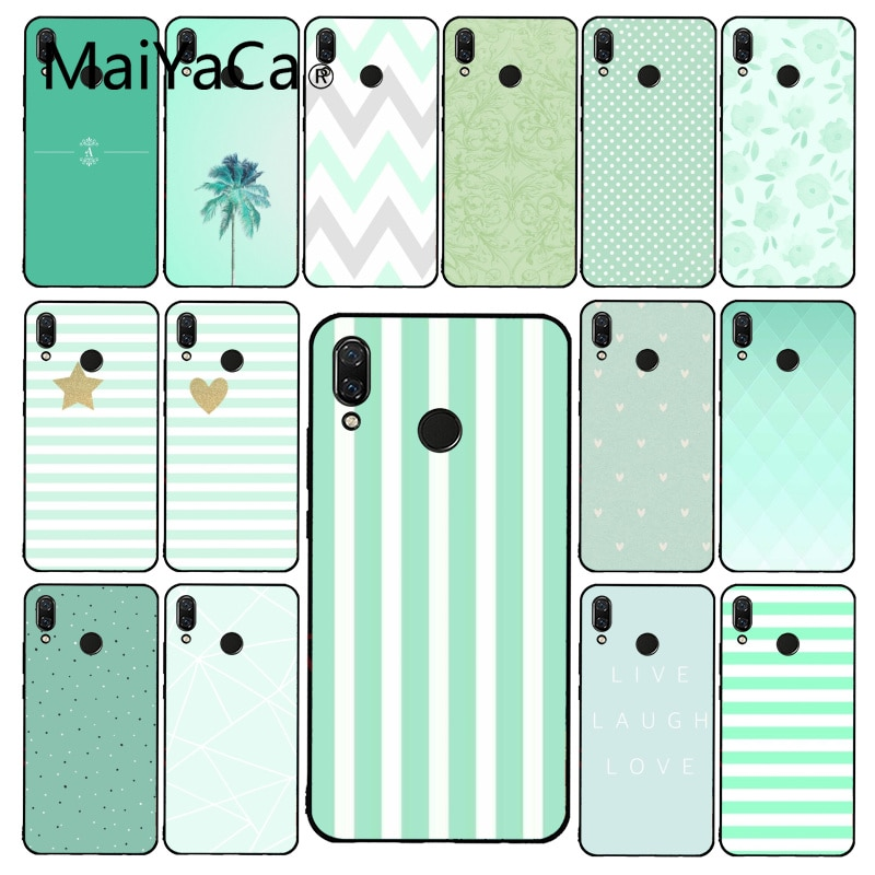 Maiyaca Simple little fresh mint green  Phone Case for Xiaomi Redmi4X 6A S2 Go Redmi 5 5Plus Note4 Note5 7 Note6Pro 8T