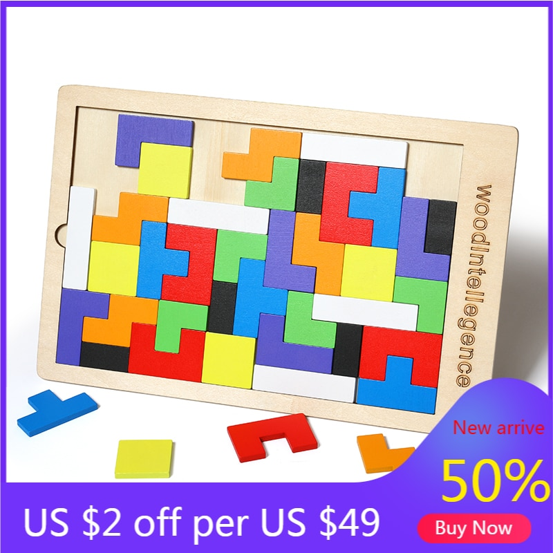 colorful cognition board kids montessori educational toy children wooden jigsaw color match game board puzzles child wooden toy Tetris Baby Wooden Toys Puzzles Kids Children Intellectual Educational Montessori Colorful Jigsaw Board Puzzle Toy For Kids Gift