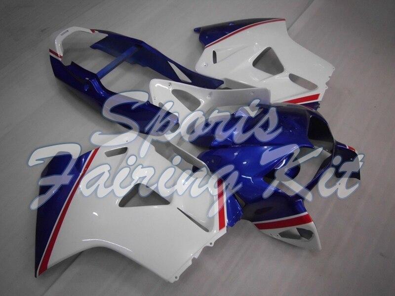 Kits de cuerpo completo para VFR 800 1998 - 2001 Kits de cuerpo blanco azul para Honda VFR800 1998 carenados para Honda VFR800 2000