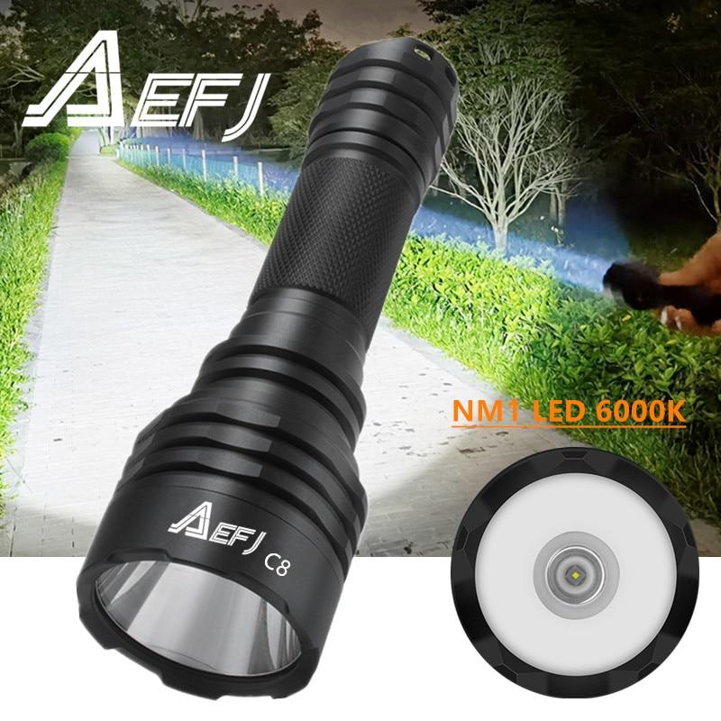 C8 Wainlight NM1 linterna LED 1000M distancia de iluminación linterna por batería 18650 para Camping caza