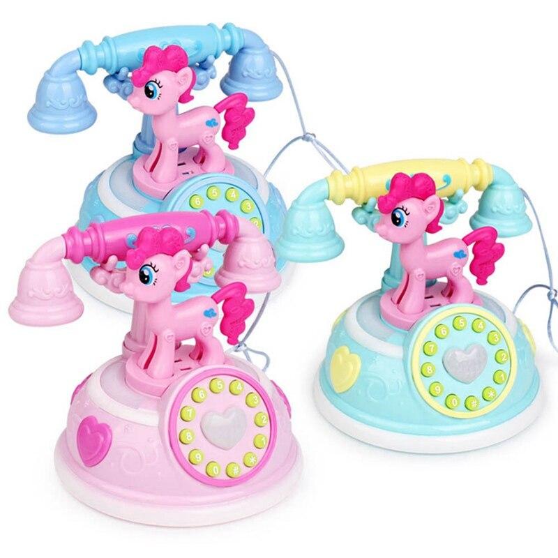Ретро детский игрушечный телефон Раннее детство истории машина для телефона эмулированный игрушечные телефоны для детей подарочная музык...