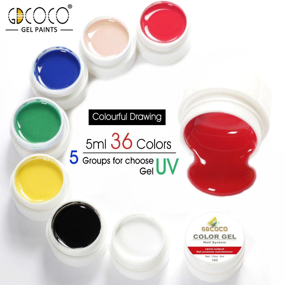 #86153 GDCOCO Venalisa pintura Gel empapar UV LED de 5ml Gel puro de color 36 colores Gel barniz fábrica canni puro esmalte de uñas de Gel