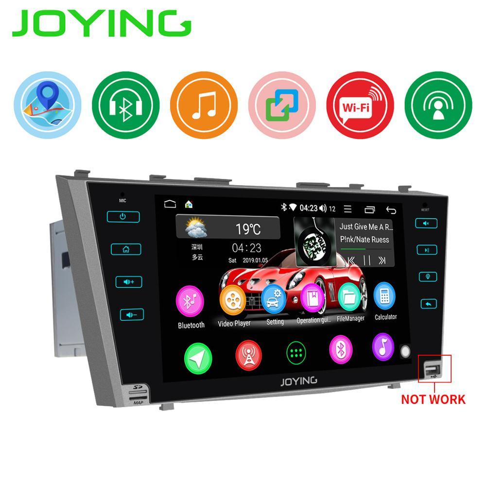 "JOYING Android 8,1 2 din radio de coche estéreo GPS 9 ""HD pantalla autoradio para Toyota Camry Aurion 2006-2011 sin ranura para reproductor de DVD"