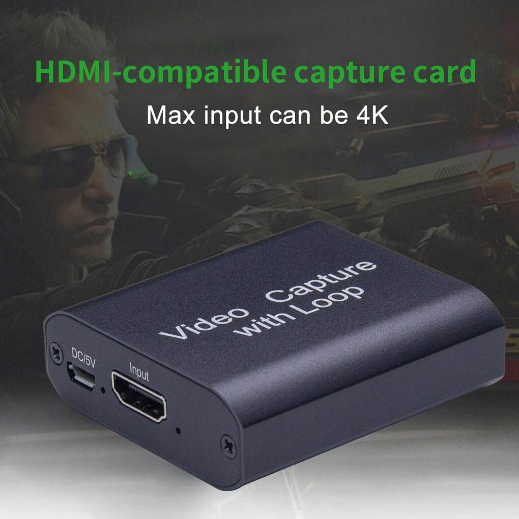 USB Video Capture Card HDMI-compatible To USB 2.0 HD 4K 1080P Video Recording Box For PS4 XBOX Phone Game Capture Broadcast TV enlarge