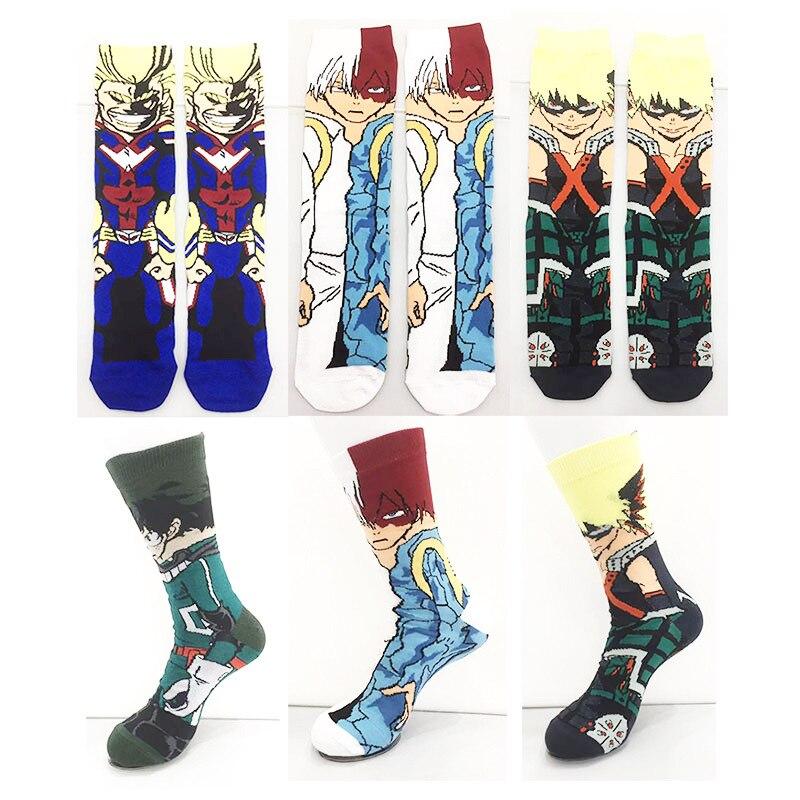 Забавные носки My hero академия, Повседневные носки для мальчиков и девочек