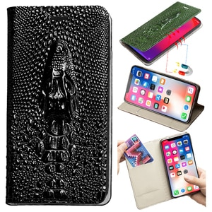 Leather Flip Phone Case For Huawei Honor 30 20 Pro 10 10i 9 8 Lite 8A 9X 8X Max 7X X10 P Smart Y6 Y7 Y9 Dragon Head Wallet Bag