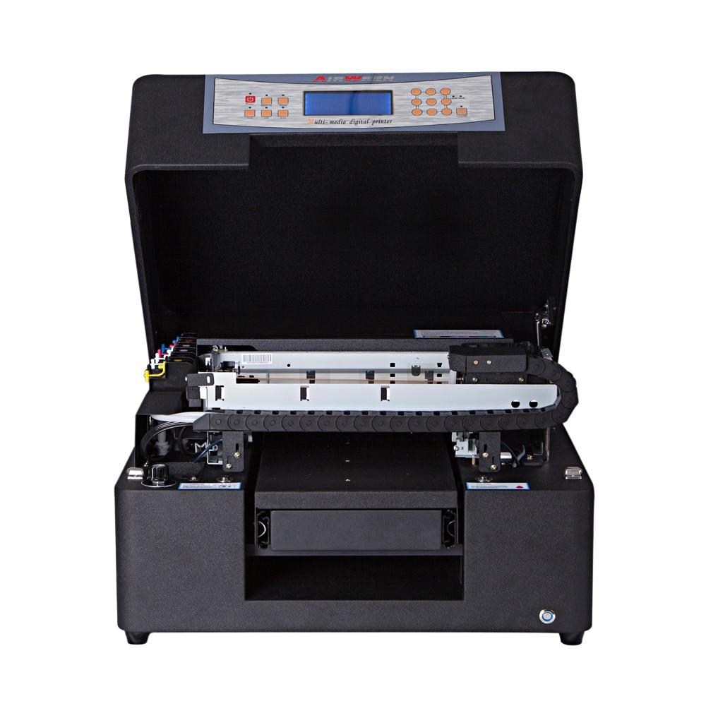 Multifunción de alta calidad A4 de inyección de tinta UV LED impresora plana para la caja del teléfono Impresión de madera