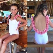 Ons Kids Baby Meisje Bloemen Backless Badmode Bikini Monokini Badpak Badpak