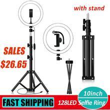 10 zoll 128LED Selfie Ring Licht Dimmbare Kamera Telefon Lampe w/Stand Stativ Unterstützung Dropshipping