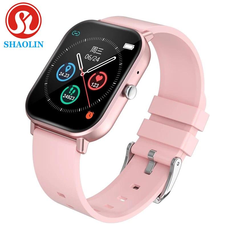 SHAOLIN Smartwatch Frauen Männer Bluetooth Anruf Sport Smart Uhr Für Android IOS Fitness Herz Rate Monitor PK Watch6 P8 B57