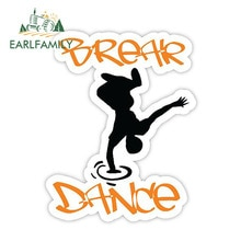 EARLFAMILY 13cm x 10.2cm Break Dance Sticker Vinyl Car Decal Window Door Bumper Truck Boat Funny Car Stickers
