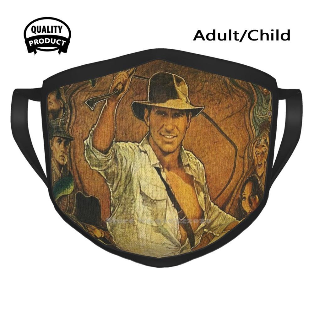 Vintage Oldposter Windproof Sport Soft Warm Mouth Mask Indiana Indiana Jones Indiana Jones Harrison Horrison Spielberg Action